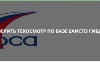 Проверка техосмотра на официальном сайте РСА